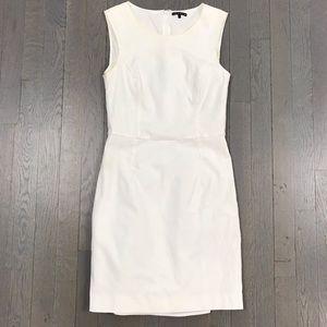 theory White Sleeveless Sheath Work Dress Size 0